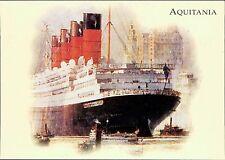 Postcard Cunard R.M.S. AQUITANIA  JE.111