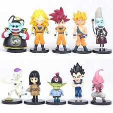 10pcs Anime Dragon Ball Z Goku Collection Action Figures Dolls Set Toy Kids Gift