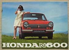 Honda N600 Reino Unido Folleto de ventas de coche 1969