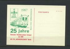 Germany  1987 Unused Postcard with Model Railway Association Design