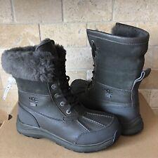 UGG Adirondack III Black Olive Waterproof Leather Snow Boots Size US 7 Womens