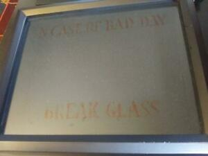 In Case of Emergency Break Glass, Shadow Box, Funny Gag Gift, Funny Wall Decor,