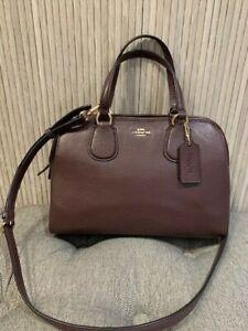 Authentic Coach 25017E Burgundy Leather Nolita Satchel Crossbody Bag