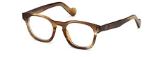 Moncler ML 5017 047 Light Havana Brown Square Eyeglasses 48mm