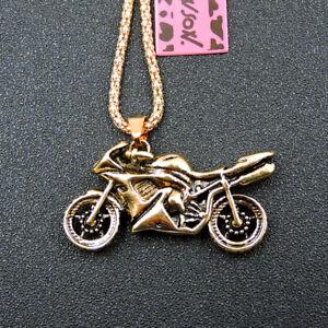 New Fashion Betsey Johnson Gold Alloy Motorbike Pendant Chain Necklace