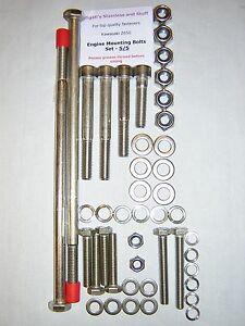 Kawasaki Z650 / Z 650 - Engine Mounting (Long) Bolts Set - Stainless Steel