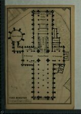 1897 Baedeker Plan of York Cathedral / Plan of Durham Cathedral