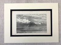 1880 Antique Meteorology Print Clouds Cloudy Storm Landscape Cloud Types