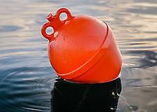 Gavitello 10lt Boa a pera per ormeggio barca gommone colore arancio Pear shaped