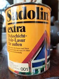 0,75 L FARBLOS Sadolin Extra Spezial Holz-Lasur Aussen Spritzfähig