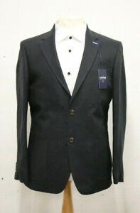 Men's T.M.LEWIN Spey Jacket In Navy Plain Linen Ref...7581