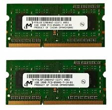 RAM Micron 2GB 2x1GB KIT PC3-8500S DDR3 1066Mhz SO-DIMM 204pin Lenovo Thinkpad