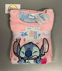 NEW disney stitch kids girls primark sleece cosy christmas pyjamas pjs gift set