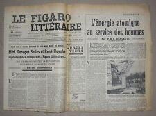 Journal Le Figaro Littéraire Samedi 23 Avril 1949