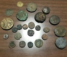 Twenty-four Late Roman or Byzantine Aes Coins