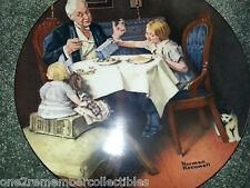 1984 NORMAN ROCKWELL Fine China Plate THE GOURMET 1st Edition BRADFORD EXCHANGE