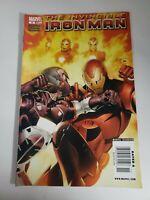 Invincible Iron Man No 6 (Dec 2008) Marvel Comic Newsstand Variant K3a62