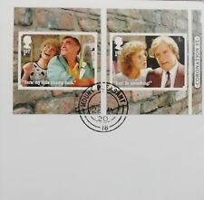 GB 2020 Very fine used pair of Coronation Street Self Adhesive Booklet Stamps.