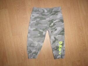 DKNY Grey & Green army print baby boys tracksuit bottoms age 12 months