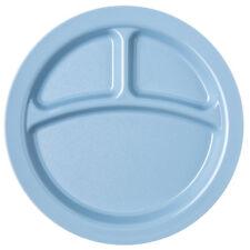 "Carlisle 9"" 3 COMPARTMENT NARROW RIM SLATE BLUE ( CASE OF 48 )"