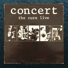The Cure Concert Live LP Vinyl Record 1984 Punk New Wave Made in Greece PolyGram