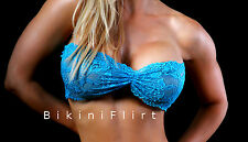 SEXY SKIMPY SHEER SEE THRU STRAPLESS LACE BIKINI TOP! NEW! LOOK! MADE IN USA!