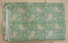Indian Cotton Running Loose Sewing 3 Yard Fabric Craft Hand Block Print Paisley