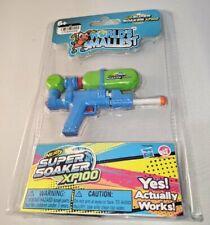 New - WORLD'S SMALLEST Nerf Super Soaker Barrage Water Gun It Works! Blue/White