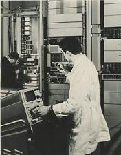 """Crosspoint"", Societa Italiana Telecomunicazioni Siemens Vintage silver print"