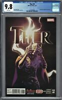Thor #8 CGC 9.8 Jane Foster REVEALED as THOR 7/15 Key Issue MOVIE COMING