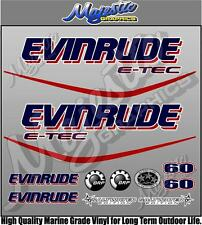 EVINRUDE ETEC - 60hp - OUTBOARD DECALS