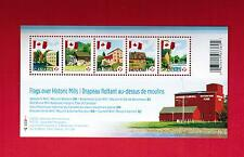 2010  TIMBRES CANADA STAMPS SOUVENIR  SHEET  # 2350 ** FLAG OVER MILLS  M - 15