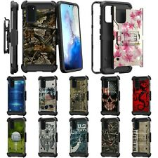 For Samsung Galaxy S20 Plus 6.7 Full Body Armor Rugged Holster Belt Clip Case
