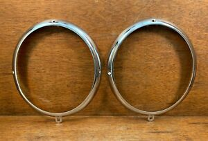 Original Porsche 356 Pre-A 356A Bosch Headlight Chrome Ring / Bezels - RESTORED