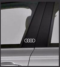 AUDI RING Chrome Vinyl Decals/stickers Car Door Pillar,  Car Windows Etc.. X 2