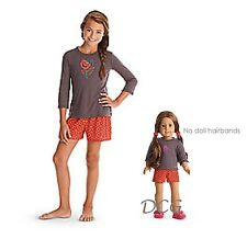 American Girl CL LE SAIGE SET PAJAMAS SIZE XS (6) for Girls & Doll Matching NEW*