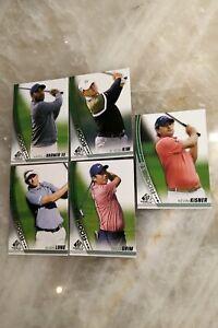 2021 SP Game Used Golf Rookie Card Lot (5 Cards) Ghim Kim Varner III Long Kisner