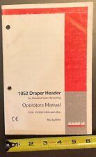 Case Ih 1052 Draper Header Operators Manual Rac 6 20461 Original 012000