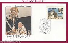 W457 VATICANO FDC ROMA GIOVANNI PAOLO II WOJITYLA PARAGUAY ENCARNACION 1988