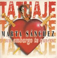 "MARTA SANCHEZ "" TATUAJE, CD SINGLE CARTONCILLO"""