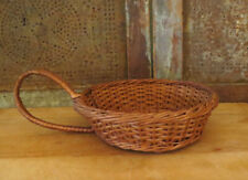 """Old Country Primitive Farmhouse Woven Wood basket SCOOP / Candle Holder 11 3/4"""""""