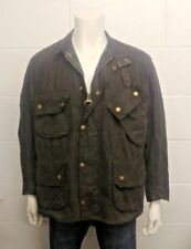 Barbour - International Style Wax Cotton Jacket With Leather Trim