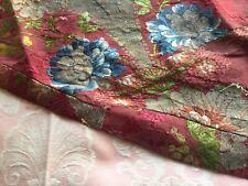 Opulent French Italian Antique 1700s Silk Metallic Brocade Ecclesiastical Salvag