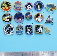 NASA enamel PIN lot of 15 - vtg Space Camp Shuttle station Endeavour lot Group A