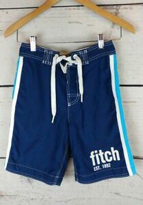 Abercombie Kids Boys Size Medium Swim Trunks Board Shorts Blue