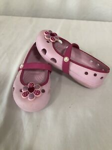 New Slip On  Crocs Mary Janes Size C 9 Keeley G Bubblegum