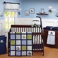 Nautica Kids Boys Zachary 7-Piece Patchwork Sailboat Nursery Crib Bedding Set