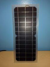 10WATT 12VDC SEMI-FLEXIBLE 10W SOLAR PANEL 12V BATTERY CHARGER W BATTERY CLIPS