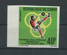 CONGO FUßBALL 1965 UNGEZÄHNT SOCCER FOOTBALL IMPERF NON DENTELE RARE!! h1267