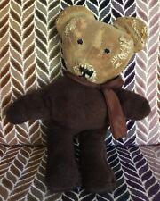 Antiguo De Colección bien amado Oso de Peluche con muchas Momia puntadas y reparaciones